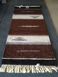 Photo of Ingrid'sRunnerRug Stripe BrownBlackWhite