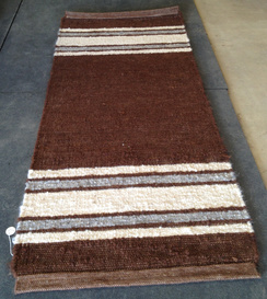 Photo of Ingrid'sRunnerRug BrowMid-part, Stripes