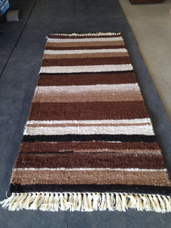 Photo of Ingrid'sRunnerRug Stripe BlackFawnBrown