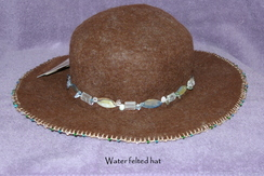 Photo of Wet felted and beaded hat