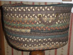 Basket large woven with handles