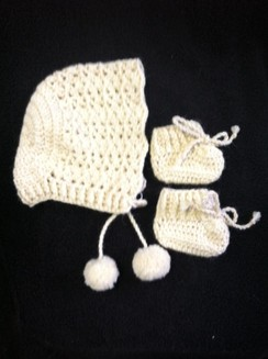 Baby Hat with Booties