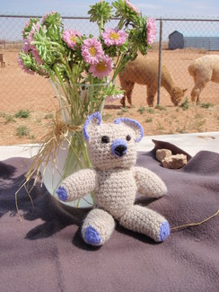 Photo of Pac-A-Bear Hand Crocheted Alpaca Bear