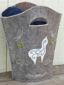 Photo of Hand Embroidered Tote - OUT OF STOCK