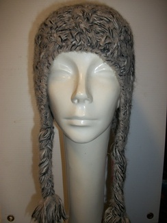 Hand Knit Beige Hat