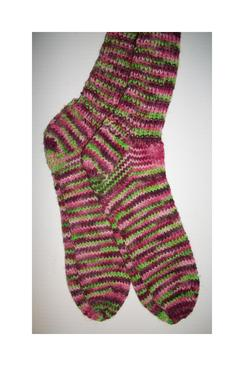 """Frog & Piggy"" Hand Knit Socks"