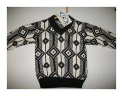 Children's Black & White Sweater