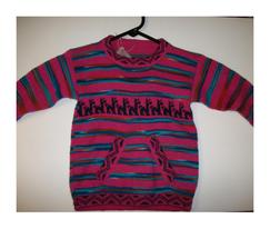 Children's Pink Striped Sweater