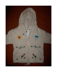 Children's Lightweight White Zip Up