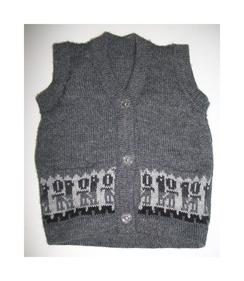 Children's Gray Button Up Vest