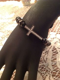 Photo of Rhinestone Cross bracelet