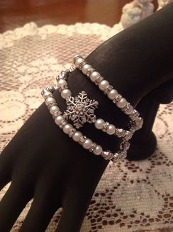 Photo of  Rhinestone Snowflake Wrap bracelet