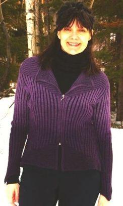 """Alpaca Zipper Sweater """"Violette"""""""