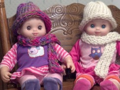 Photo of Doll Scarf and Hat Set