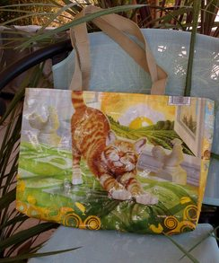 Small Upcycled Lined Tote
