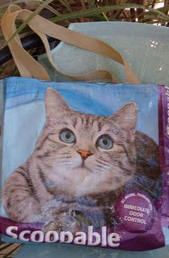 Cat Lover's Upcycled Tote