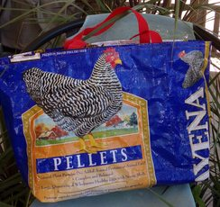 Upcycled Chicken Tote