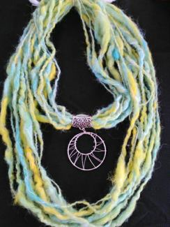 HomeSpun ArtYarn with Wire Wrapped Slide