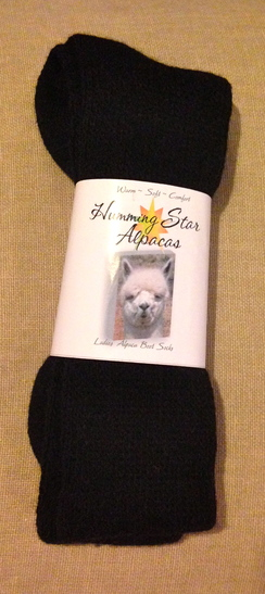 Photo of Humming Star Alpaca Boot Socks /Ladie's