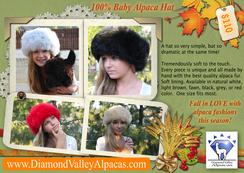 100% Baby Alpaca Fur Hats