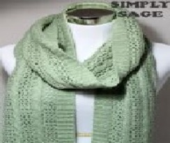 Cable & Lace Scarf