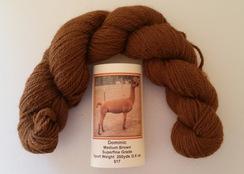 Photo of Alpaca Yarn Med.Brown Sport Wt.200 yds.