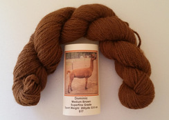 Alpaca Yarn Med.Brown Sport Wt.200 yds.