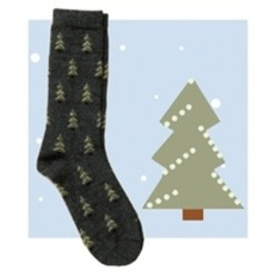 Photo of Alpaca Pine Tree Sock