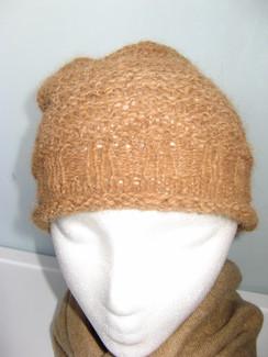 Ribbed Knit Alpaca Hat