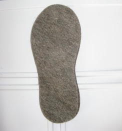 Alpaca/Wool Felted Insoles