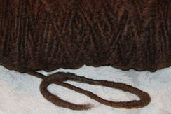 Photo of Cotton Cored Alpaca Yarn - Black & Multi