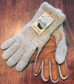 Glove-Alpaca with Leather Palm