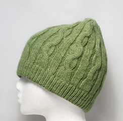 Hat-Cable Knit Beanie