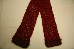 100% Silk Crochet Scarf