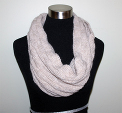 Photo of Alpaca Infinity Basketweave Scarf