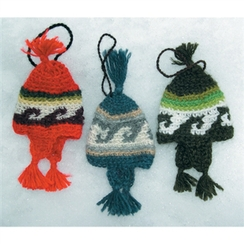 Hand Crocheted Earflap Hat Tree Ornament