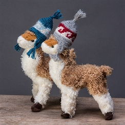 Yuletide Paca with Earflap Hat Ornament