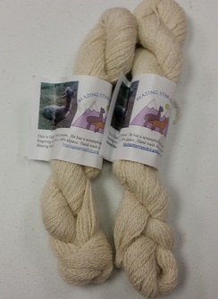 Photo of Blazing Star Ranch Yarn Gladiator, white