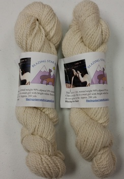 Photo of Blazing Star Ranch Yarn Clara, white