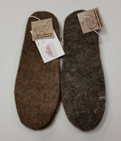 Photo of Alpaca Felt Insoles