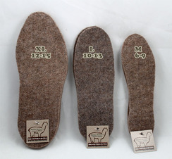 Insulating Alpaca Insoles - Trim to Fit