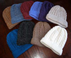 Handknit Trenza Cable Hat