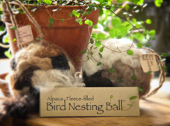 Alpaca Fleece-filled Bird Nesting Ball®