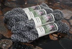 Suri Alpaca Yarn - Blk Heather(lg skein)