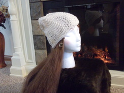Photo of Womens scallop lace hat
