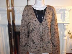 Ladies alpaca embroidered cardigan