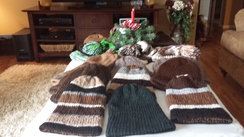 Photo of Striped or Solid Color Knitted Beanies