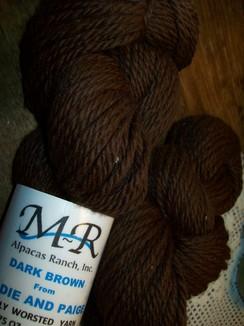 Alpaca Yarn  Dark Brown Sadie and Paige
