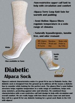 Gental Touch Diabetic Socks (Large)