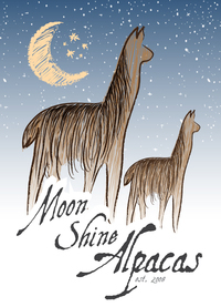 Moon Shine Alpacas - Logo